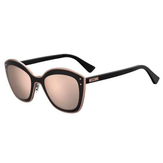 Moschino MOS050/S - 3H2 0J Rosa Nero   Occhiale Da Sole Donna