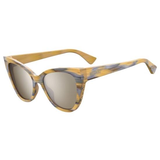 Moschino MOS056/S - B1Z T4 Argento Oro | Occhiale Da Sole Donna