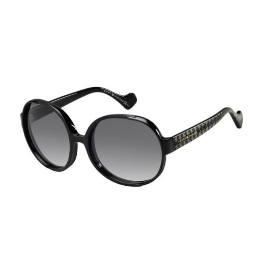 Tommy Hilfiger TH ZENDAYA III - INA 9O Tessuto Nero Diamante Nero Bla | Occhiale Da Sole Donna