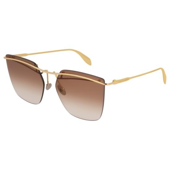 Alexander McQueen AM0144S - 001 Oro | Occhiale Da Sole Donna