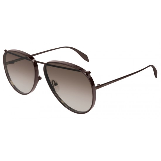 Alexander McQueen AM0170S - 004 Marrone | Occhiale Da Sole Unisex