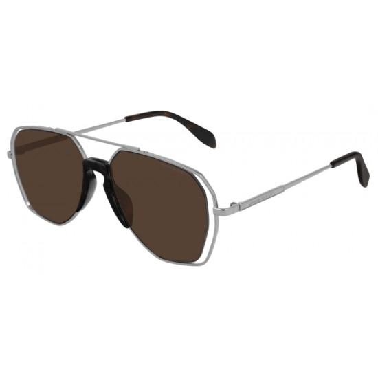Alexander McQueen AM0197S - 003 Argento | Occhiale Da Sole Uomo