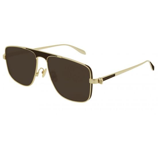 Alexander McQueen AM0200S - 002 Oro   Occhiale Da Sole Uomo