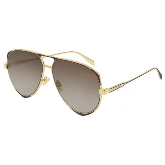 Alexander McQueen AM0204S - 003 Oro | Occhiale Da Sole Uomo
