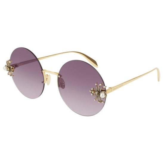 Alexander McQueen AM0207S - 003 Oro | Occhiale Da Sole Donna