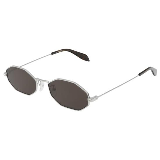 Alexander McQueen AM0211SA - 002 Argento   Occhiale Da Sole Uomo