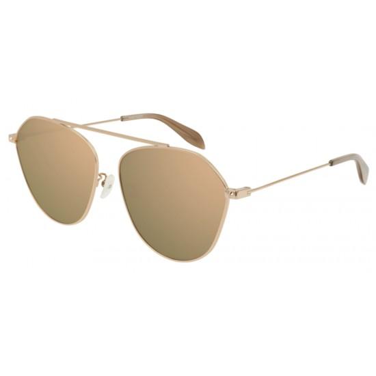 Alexander McQueen AM0212SA - 004 Oro   Occhiale Da Sole Unisex
