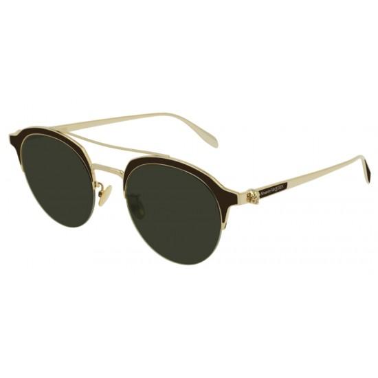 Alexander McQueen AM0214SA - 002 Oro   Occhiale Da Sole Unisex