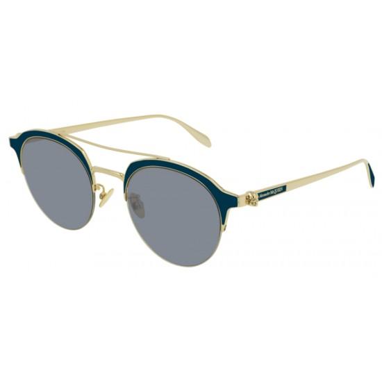 Alexander McQueen AM0214SA - 004 Oro   Occhiale Da Sole Unisex