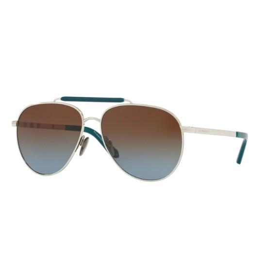 Burberry BE 3097 - 100513 Argento | Occhiale Da Sole Uomo