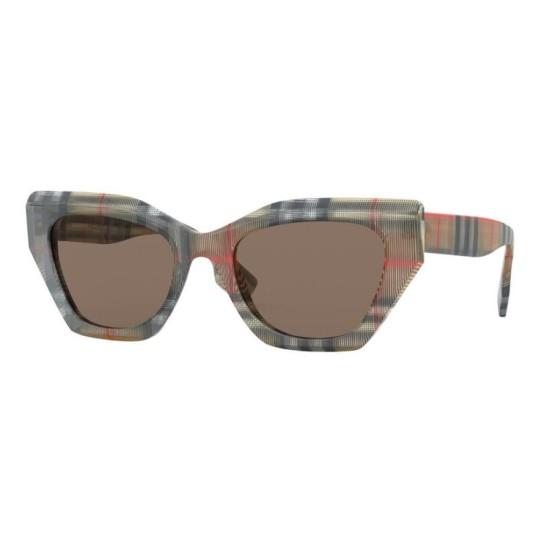 Burberry BE 4299 - 383273 Top Trasp Con Check Vintage | Occhiale Da Sole Donna