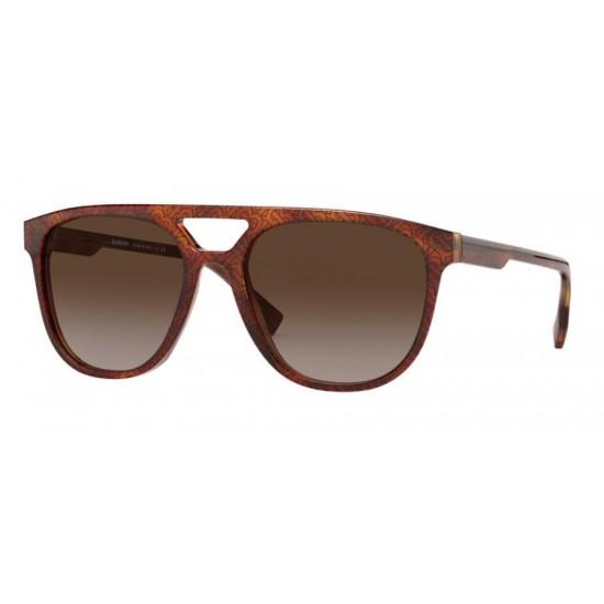 Burberry BE 4302 - 382313 Top Tb Nero Su Avana Chiaro | Occhiale Da Sole Uomo
