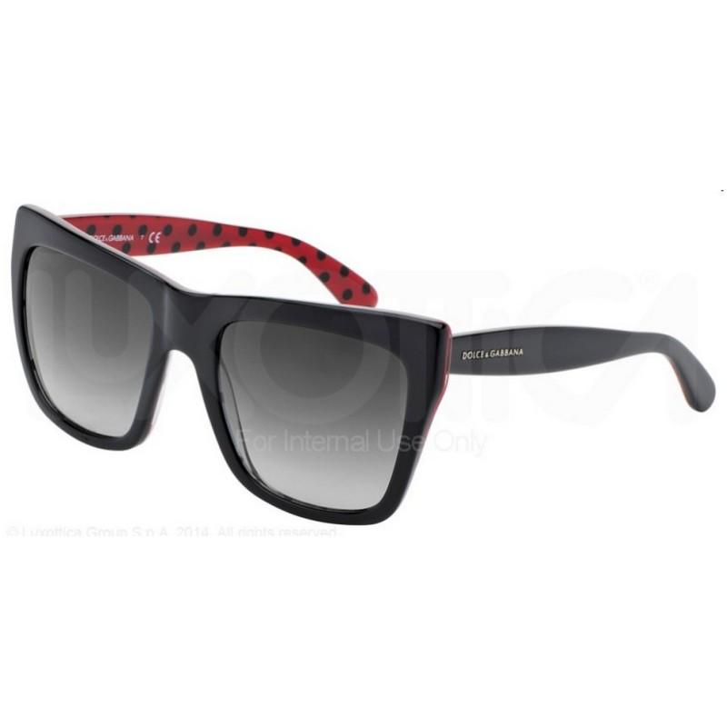 Dolce   Gabbana DG 4228 28718G Pois Nero Interno Rosso Con Puntini Neri 5d725cffd78