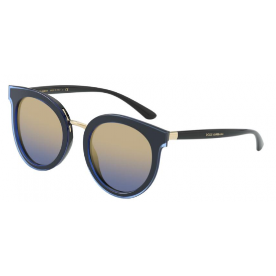 Dolce & Gabbana DG 4371 - 323733 Top Trasparente Blu Su Nero | Occhiale Da Sole Donna
