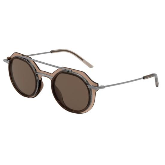 Dolce & Gabbana DG 6136 - 325473 Marrone Trasparente | Occhiale Da Sole Uomo