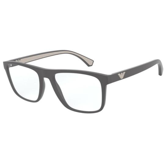 Emporio Armani EA 3159 - 5800 Grigio Opaco | Occhiale Da Vista Uomo