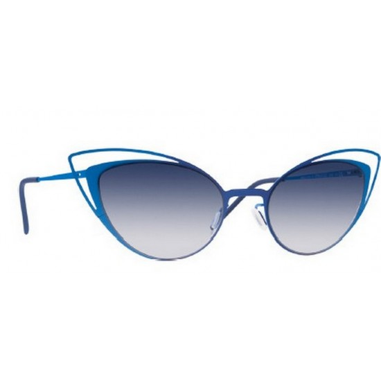 Italia Independent MOD 0218 I-THIN METAL - 0218.021.022 Blu Blu | Occhiale Da Sole Donna