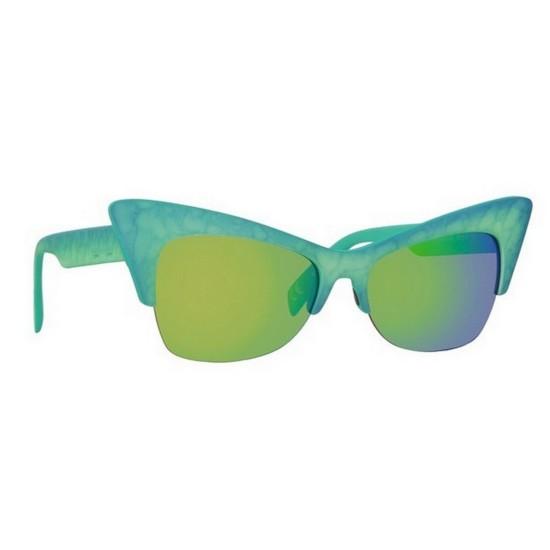 Italia Independent I-PLASTIK 0908 - 0908.022.030 Blu Verde | Occhiale Da Sole Donna