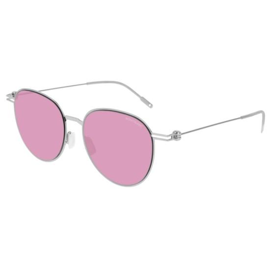 Montblanc MB0002S - 005 Argento | Occhiale Da Sole Uomo