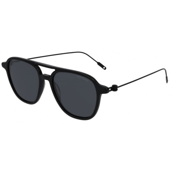 Montblanc MB0003S - 001 Nero | Occhiale Da Sole Uomo