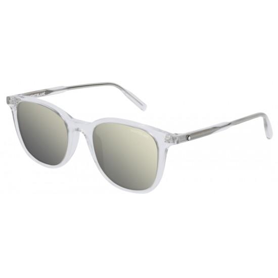 Montblanc MB0006S - 005 Cristallo | Occhiale Da Sole Uomo