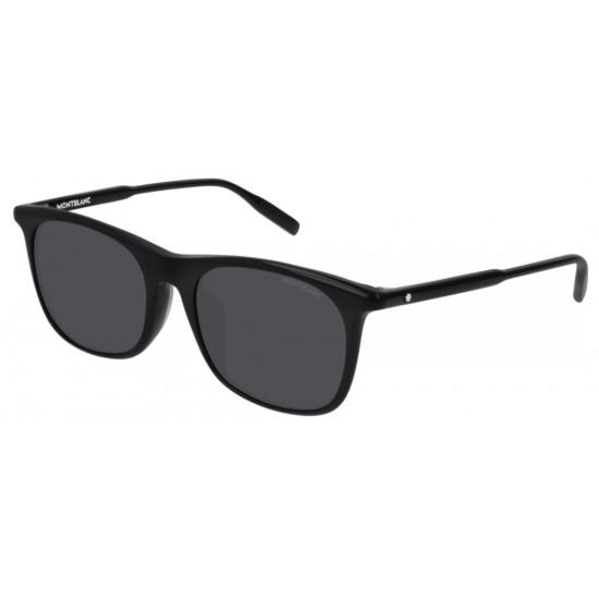 Montblanc MB0007SA - 001 Nero   Occhiale Da Sole Uomo