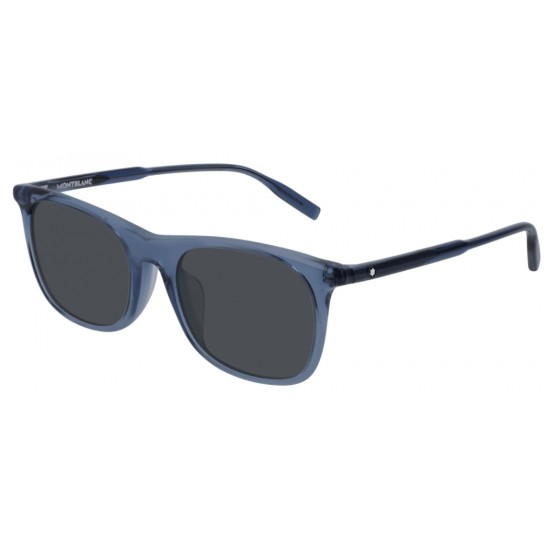 Montblanc MB0007SA - 004 Blu | Occhiale Da Sole Uomo