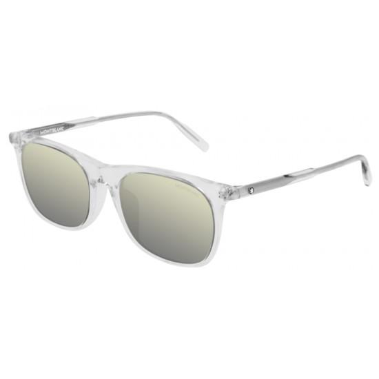 Montblanc MB0007SA - 005 Cristallo | Occhiale Da Sole Uomo
