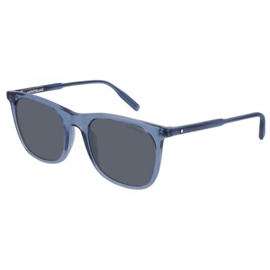 Montblanc MB0008S - 004 Blu | Occhiale Da Sole Uomo