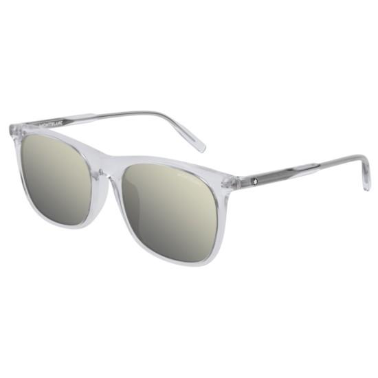 Montblanc MB0008SA - 005 Cristallo | Occhiale Da Sole Uomo