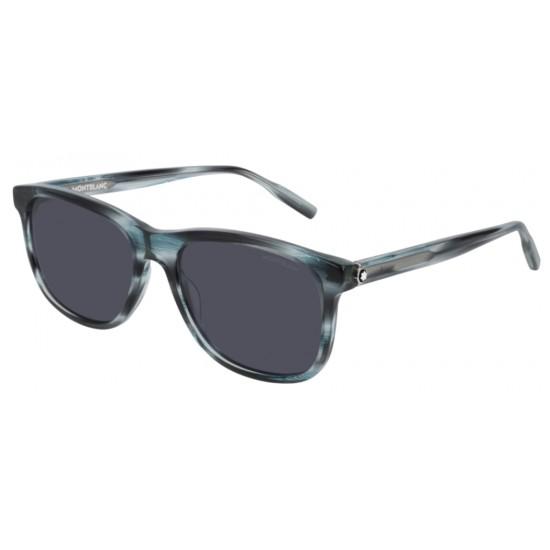 Montblanc MB0013SA - 004 Blu | Occhiale Da Sole Uomo
