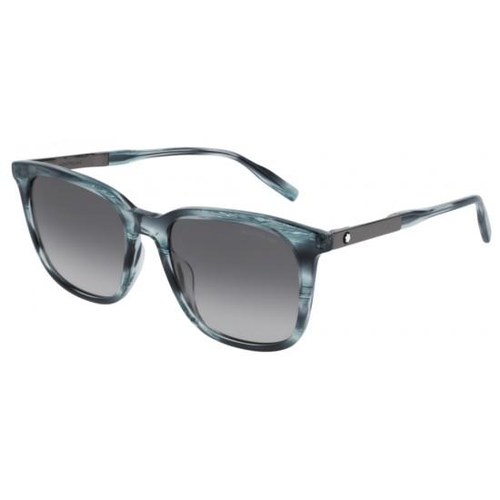 Montblanc MB0017S - 004 Blu   Occhiale Da Sole Uomo