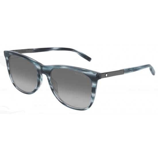 Montblanc MB0017S - 009 Blu   Occhiale Da Sole Uomo