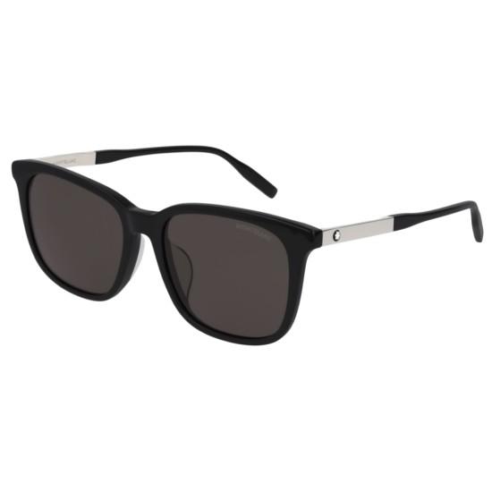 Montblanc MB0017SA - 001 Nero | Occhiale Da Sole Uomo
