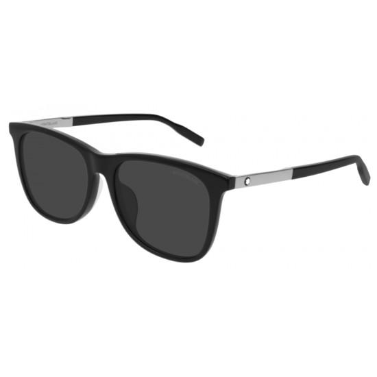 Montblanc MB0017SA - 005 Nero | Occhiale Da Sole Uomo