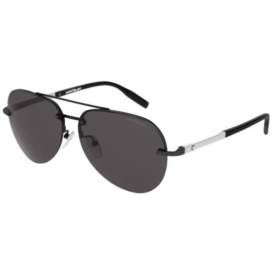 Montblanc MB0018S - 001 Nero | Occhiale Da Sole Uomo