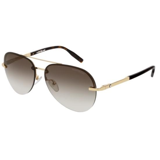 Montblanc MB0018S - 002 Oro | Occhiale Da Sole Uomo