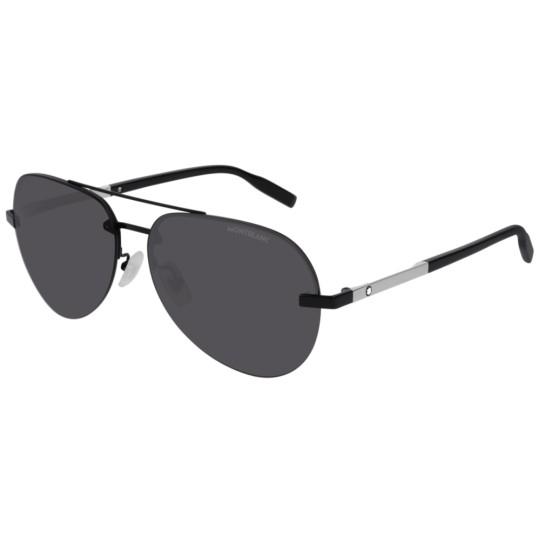 Montblanc MB0018S - 005 Nero | Occhiale Da Sole Uomo