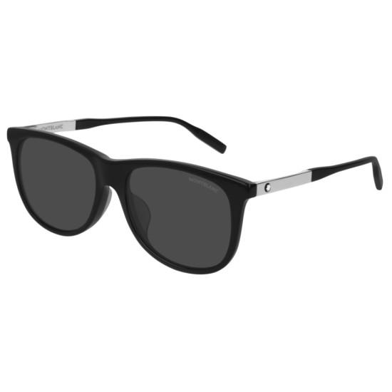 Montblanc MB0019SA - 001 Nero   Occhiale Da Sole Uomo