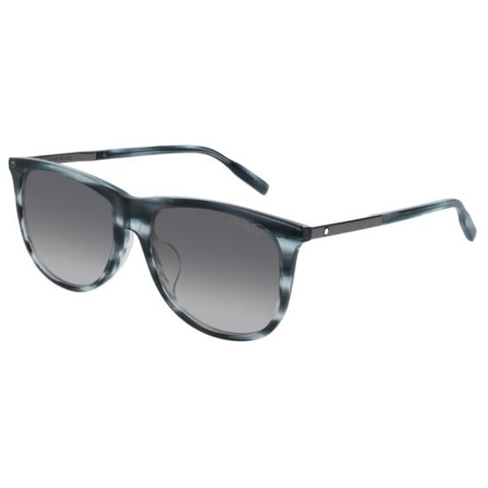 Montblanc MB0019SA - 004 Blu | Occhiale Da Sole Uomo