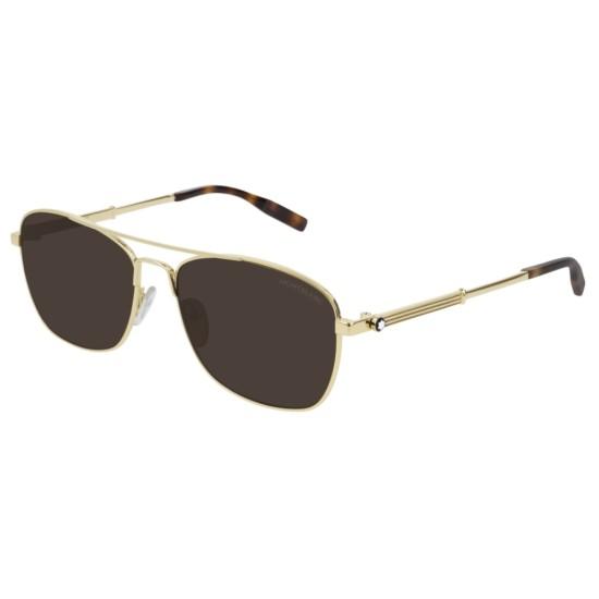 Montblanc MB0026S - 003 Oro | Occhiale Da Sole Uomo