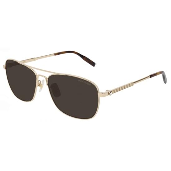 Montblanc MB0026S - 008 Oro | Occhiale Da Sole Uomo
