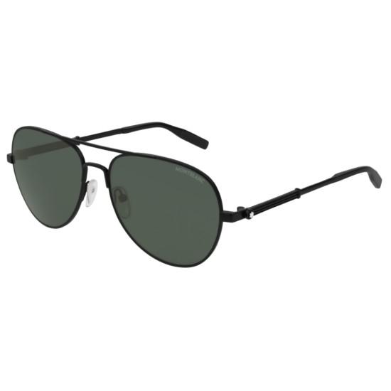 Montblanc MB0027S - 002 Nero | Occhiale Da Sole Uomo