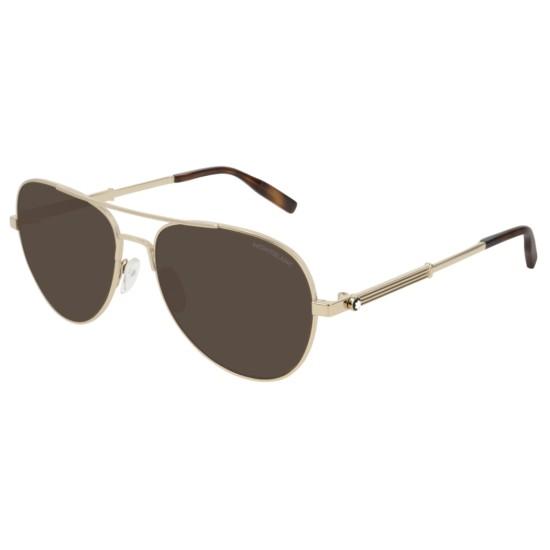 Montblanc MB0027S - 003 Oro   Occhiale Da Sole Uomo