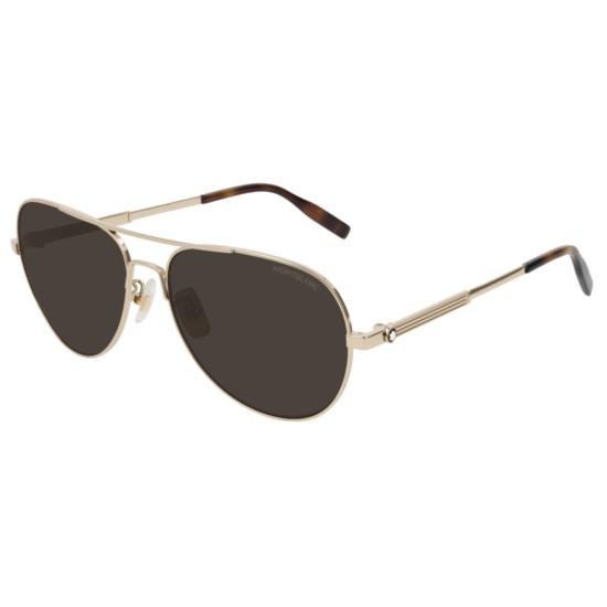 Montblanc MB0027S - 008 Oro   Occhiale Da Sole Uomo