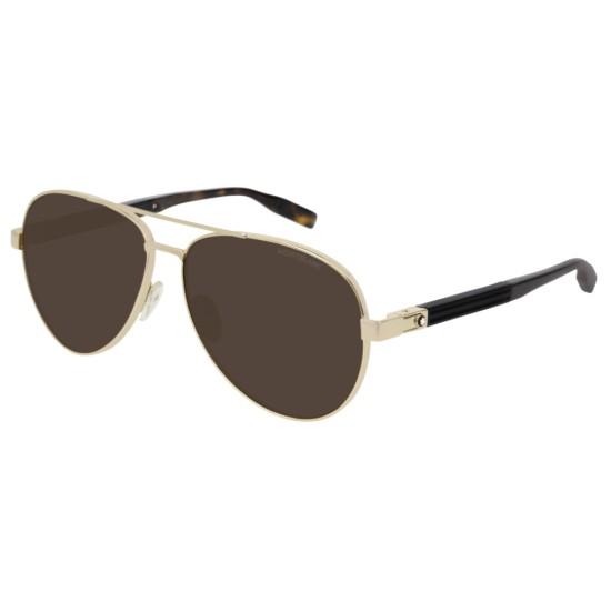 Montblanc MB0032S - 003 Oro   Occhiale Da Sole Uomo