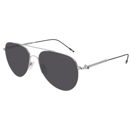 Montblanc MB0037S - 001 Argento | Occhiale Da Sole Uomo