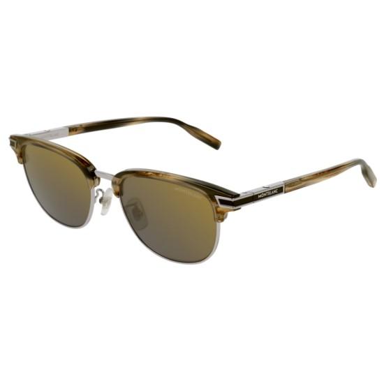 Montblanc MB0040S - 004 Grigio   Occhiale Da Sole Uomo