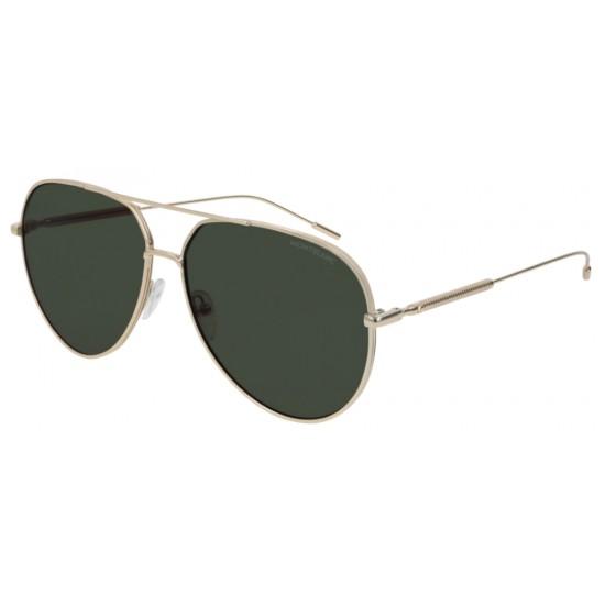 Montblanc MB0045S - 002 Oro   Occhiale Da Sole Uomo