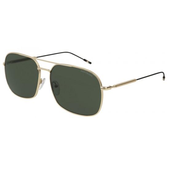 Montblanc MB0046S - 002 Oro | Occhiale Da Sole Uomo
